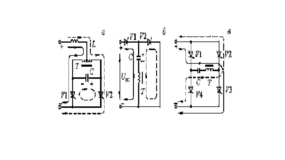 Схемы тиристорных параллельных и последовательных инверторов