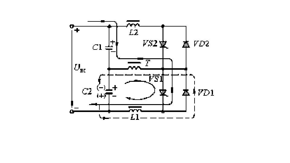 Принципиальная схема резонансного последовательного инвертора
